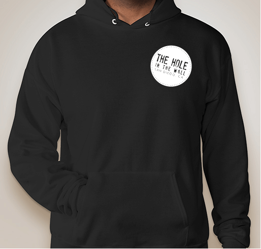 Hole in the Wall Hoodie Black